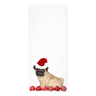 Christmas pug dog customized rack card