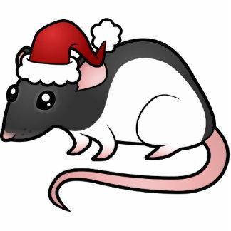 Christmas Rat Ornament Photo Sculptures