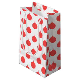 Christmas Red Balls Patterned Small Gift Bag