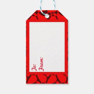 Christmas Red Gift Tags