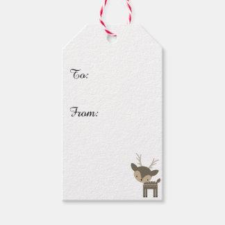 Christmas Reindeer Red Custom Gift Tags