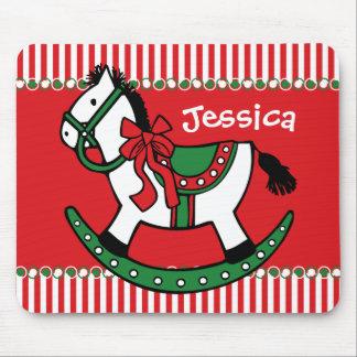 Christmas Rocking Horse Custom Mouse Pads