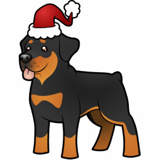 Christmas Rottweiler Photo Sculpture Decoration