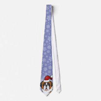 Christmas Saint Bernard Tie