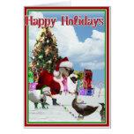 Christmas Santa Goose And Ducks