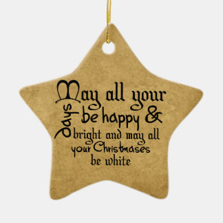 Christmas Saying Tree Star Ornament