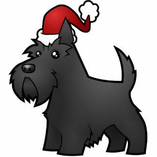 Christmas Scottish Terrier Ornament Photo Sculpture Decoration