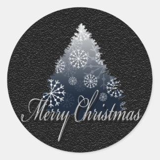 Christmas Season Seals Round Sticker