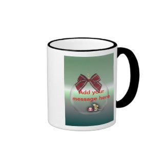 Christmas Season's Greetings Happy Holidays bauble Ringer Mug
