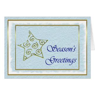 Christmas Season's Greetings Happy Holidays star Greeting Cards