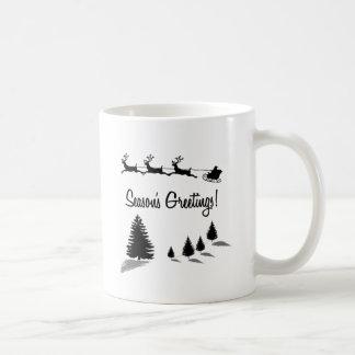 Christmas Season's Greetings Santa Coffee Mug