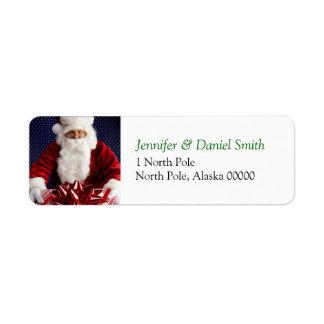 Christmas Self Addressed Sticker Return Address Label