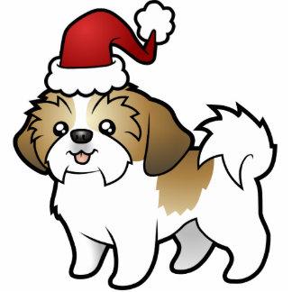 Christmas Shih Tzu Ornament (puppy cut) Photo Sculpture Decoration