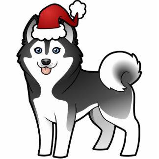Christmas Siberian Husky / Alaskan Malamute Photo Cutout