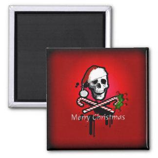 Christmas skull magnet