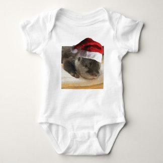 Christmas Sleepy Otter Baby Bodysuit