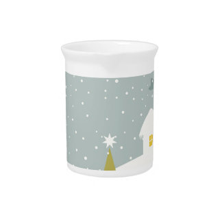 Christmas small house pitcher