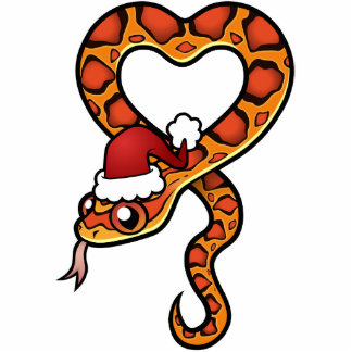 Christmas Snake Photo Sculpture Decoration