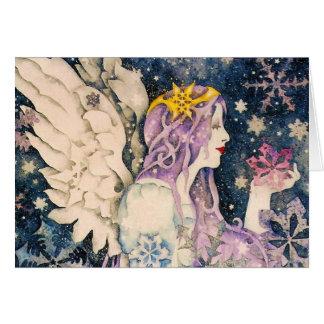 Christmas Snow Angel Greeting Card
