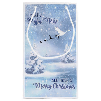 Christmas Snow Geese Make a Joyful Noise Small Small Gift Bag