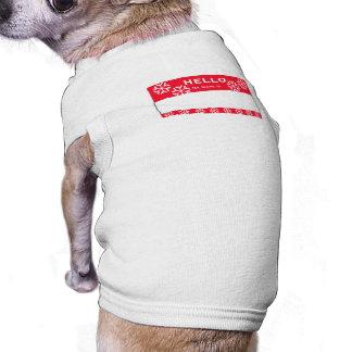 Christmas Snowflake Custom Name Dog Small Shirt