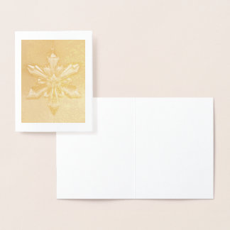Christmas Snowflake Ornament ... gold foil Foil Card
