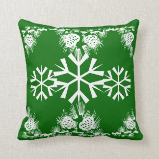 Christmas snowflake pine cones cushion