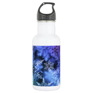 Christmas snowflakes glittery 532 ml water bottle