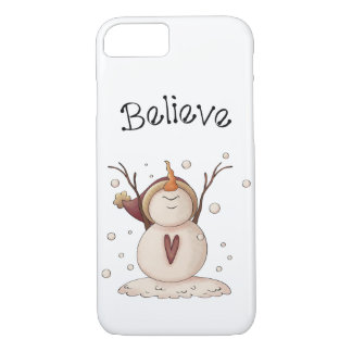 Christmas Snowman Rustic Country Primitive Winter iPhone 8/7 Case