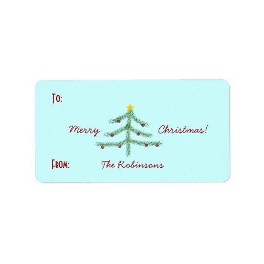 Christmas Spirit Gift Labels