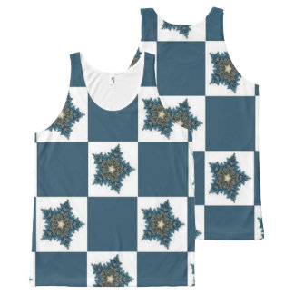 Christmas Star Checkerboard All-Over Print Singlet