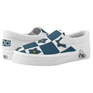 Christmas Star Checkerboard Slip-On Shoes