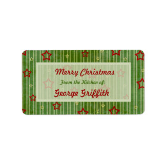 Christmas Stars From the Kitchen of Labels. Address Label