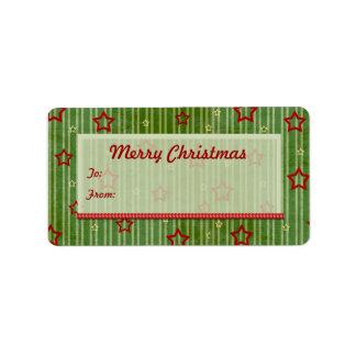 Christmas Stars Gift Tags Address Label