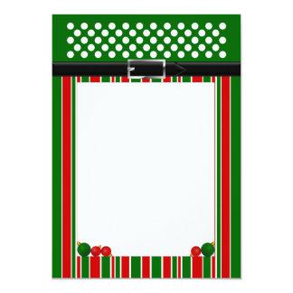 Christmas Stationery Paper 13 Cm X 18 Cm Invitation Card