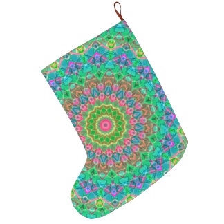 Christmas Stocking Geometric Mandala G18