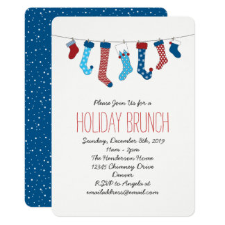 Christmas Stockings Holiday Party Card