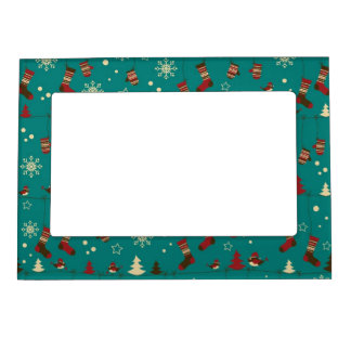 Christmas stockings pattern magnetic picture frame