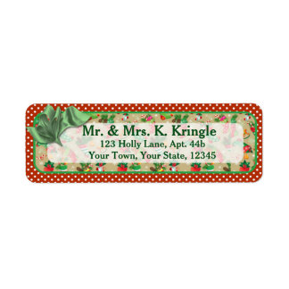 Christmas Stockings Return Address Labels
