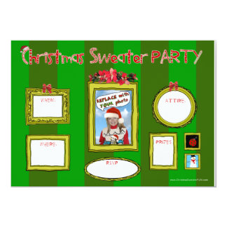 Christmas Sweater Party Invitation_template1 Card
