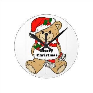 Christmas Teddy Bear Message Wallclock