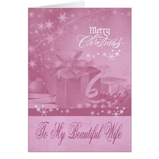 Christmas To Wife Greeting Card