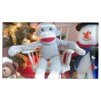 Christmas toys table card holder
