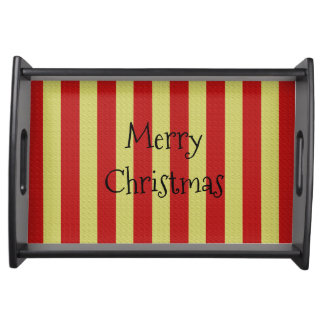 """Christmas_Trays_Merry Christmas-Showtime*_ Sm"" Serving Tray"