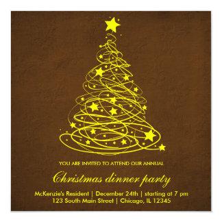 Christmas Tree 13 Cm X 13 Cm Square Invitation Card