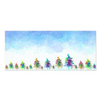 Christmas tree border. card