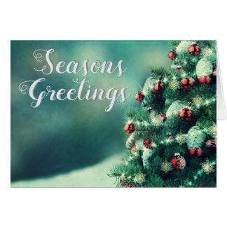 Christmas Tree Holiday Seasons Greetings Card