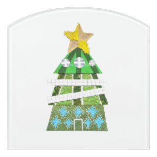 Christmas Tree Hotel Room Sign Door Sign