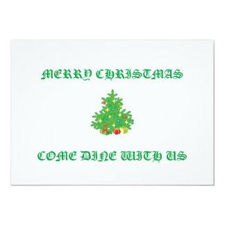 CHRISTMAS TREE INVITATIONS 5X7