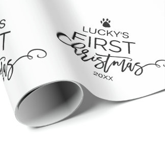 Christmas Tree Pet's First Christmas Wrapping Paper